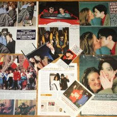Revistas de música: MICHAEL JACKSON & LISA MARIE PRESLEY LOTE PRENSA SPAIN CLIPPINGS 1990S RARE PHOTOS MAGAZINE. Lote 118262203