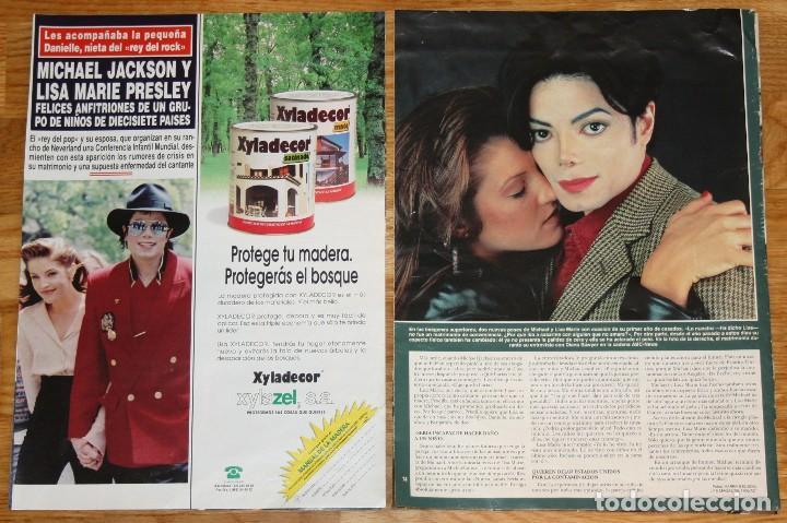Revistas de música: MICHAEL JACKSON & LISA MARIE PRESLEY lote prensa spain clippings 1990s rare photos magazine - Foto 2 - 118262203