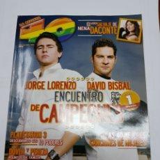 Revistas de música: REVISTA 40 PRINCIPALES - JORGE LORENZO - DAVID BISBAL- TDKR40. Lote 118306650