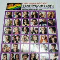 Revistas de música: REVISTA 40 PRINCIPALES - CONCIERTO 17 JUNIO 2006- TDKR40. Lote 118307138