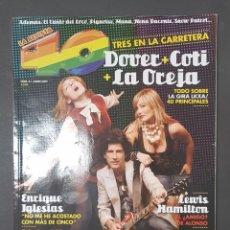Revistas de música: REVISTA 40 PRINCIPALES - DOVER - COTI - LA OREJA - TDKR18. Lote 119148159