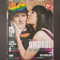 Revistas de música: REVISTA 40 PRINCIPALES - AMARAL - TDKR18. Lote 119148595