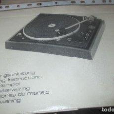 Revistas de música: MANUAL DE USO TOCADISCOS DUAL 510. Lote 119525299