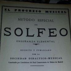 Revistas de música: METODO ESPECIAL DE SOLFEO. Lote 119877548