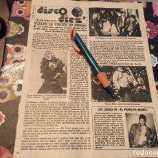 Revistas de música: RECORTE REVISTA 1984 IRON MAIDEN,BRUCE DICKINSON,EDDY Y MICHAEL JACKSON . Lote 119964255