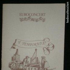Revistas de música: F1 EUROCONCERT V TEMPORADA AÑO 1990 ORQUESTA DE CAMBRA DE VIENA PHILIPPE ENTREMONT. Lote 120288379