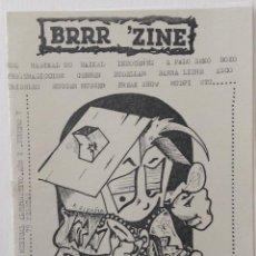 Revistas de música: BRRR'ZINE FANZINE CADIZ PUNK HARDCORE BAIKAL BARRA LIBRE RADIKAL HC BUDELLAM A PALO SEKO. Lote 120858331