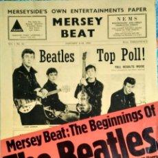 Revistas de música: LIBRO ''MERSEY BEAT. THE BEGINNINGS OF THE BEATLES'' (1977) - RAREZA. Lote 120864575