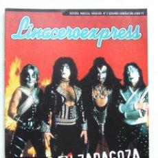 Revistas de música: LINACERO EXPRESS 2 KISS ZARAGOZA KASE O LOS SUAVES DOVER SUPERTRAMP IXO RAI WASP LOQUILLO SANTANA. Lote 124515904