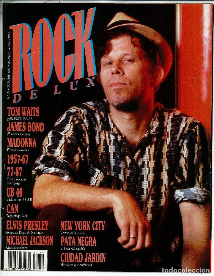 Revista Rock de Lux Número 34 Octubre de 1987 Portada Tom Waits segunda mano