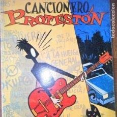 Revistas de música: CANCIONERO PROTESTON- FANZINE CON SINIESTRO TOTAL, REINCIDENTES, BARRICADA, HERTZAINAK, YMAS. Lote 122019351