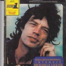Revistas de música: DOS REVISTAS POPULAR 1 ESPECIAL ROLLING STONES ENTREVISTAS 1973 Y 62-69. Lote 122448411