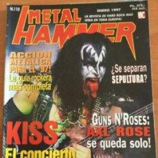 Revistas de música: METAL HAMMER Nº 110 KISS. 2 MEGA POSTERS JAMES HETFIELD, METÁLICA, MAX CAVALERA Y SEPULTURA. Lote 122885959