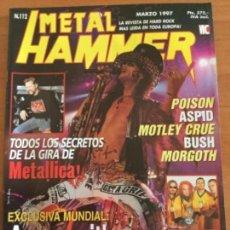 Revistas de música: METAL HAMMER Nº 112 METÁLICA Y AEROSMITH. 2 MEGA POSTERS SEPULTURA Y KORN. Lote 122886583
