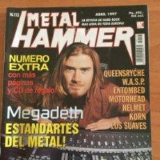 Revistas de música: METAL HAMMER Nº 113 EXTRA. 2 MEGA POSTERS AEROSMITH Y MARILYN MANSON. Lote 122887015