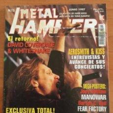 Revistas de música: METAL HAMMER Nº 115 JON BON JOVI. 2 MEGA POSTERS JOEY DEMAIO, MANOWAR Y BURTON C. BELL, FEAR FACTORY. Lote 122887475