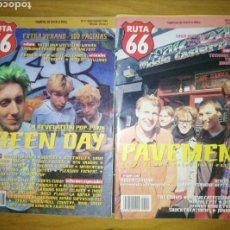 Revistas de música: RUTA 66-10 NUMEROS.. Lote 122976719