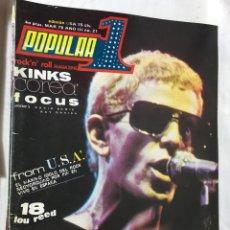 Revistas de música: RA4 REVISTA AÑOS 70 POPULAR 1 ROCK N ROLL MAGAZINE 21 1975 KINKS. Lote 123009851