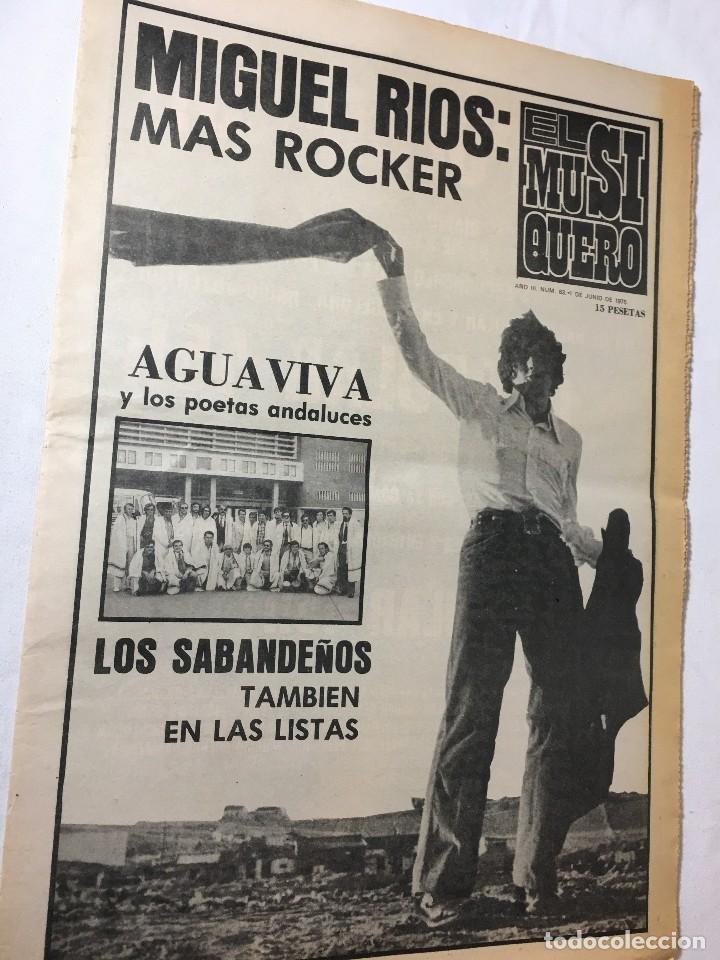 RA4 REVISTA MAGAZINE AÑO 1975 EL MUSIQUERO Nº 63 MIGUEL RIOS (Música - Revistas, Manuales y Cursos)