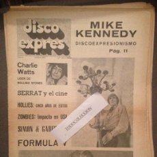 Revistas de música - DISCO EXPRES 20 (27-4-69):CHARLIE WATTS,SERRAT,HOLLIES,FORMULA V,MIKE KENNEDY,SIMON GARFUNKEL, - 123326631