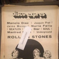 Revistas de música: DISCO EXPRES 23 (18-05-69):ROLLING STONES,MANOLO DIAZ,LONE STAR,BEATLES,J.MOREY,MANFRED MANN,N.FELIU. Lote 123332687