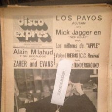 Revistas de música: DISCO EXPRES 34 (17-8-69):ALAIN MILHAUD,MIGUEL RIOS,CREEDENCE,IBEROS,LOS PAYOS,VALEN,M.JAGGER. Lote 123333535