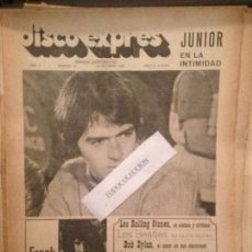 Revistas de música: DISCO EXPRES 44 (26-10-69):JUNIOR,ZAPPA,STONES,DYLAN,BEATLES,APHRODITE'S CHILD,J. FOGERTY,NINO BRAVO. Lote 123334563