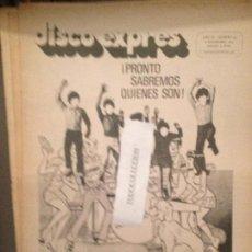 Revistas de música: DISCO EXPRES 95 (8-11-70): ARCHIES,DYLAN,TABANO,BEATLES,SMASH,THE WHO,GRAND FUNK,VICTOR MANUEL,. Lote 123335939