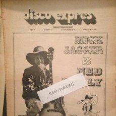 Revistas de música: DISCO EXPRES 94(1-11-70):JAGGER,STONES,BEATLES,CONEXION,JIMMY CLIFF,TARA,JULIE DRISCOLL,LOS MUSTANG,. Lote 123336383