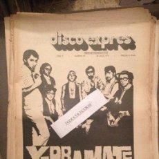 Revistas de música: DISCO EXPRES 80 (26-7-70):YERBA MATE,GUALBERTO,SMASH,CHRISTIE,CREAM, LOS DIABLOS, MAQUINA!,HNOS.ANOZ. Lote 123336955