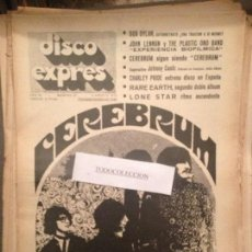 Revistas de música: DISCO EXPRES 81 (2-8-70):CEREBRUM,DYLAN,LENNON,RARE EARTH,LONE STAR,JOHNNY CASH,KARINA,JAVALOYAS,. Lote 123337171