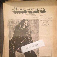 Revistas de música: DISCO EXPRES 93 (25-10-70: J.JOPLIN,SMASH,ALMAS HUMILDES, BECK-ZAPPA,SANTANA,EUROVISION. Lote 123337911
