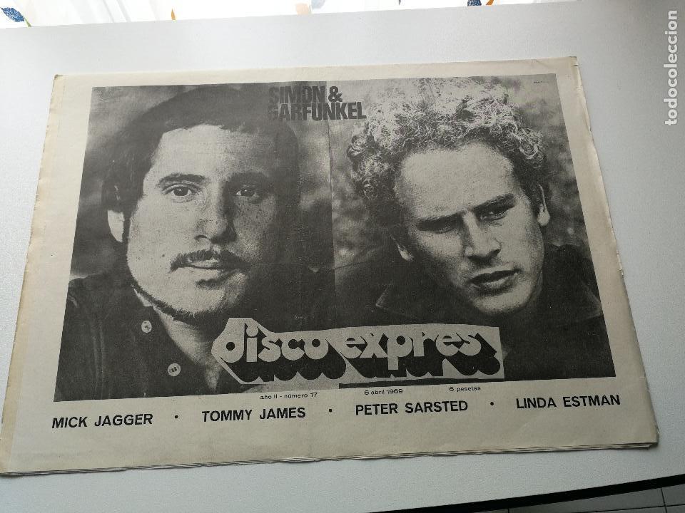 REVISTA ' DISCO EXPRES ' Nº 17 - ABRIL 1969 //PORTADA ' SIMON & GARFUNKEL ' (Música - Revistas, Manuales y Cursos)
