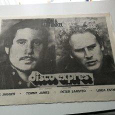 Revistas de música - REVISTA ' DISCO EXPRES ' Nº 17 - ABRIL 1969 //PORTADA ' SIMON & GARFUNKEL ' - 124287719