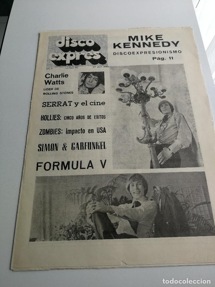 REVISTA ' DISCO EXPRES ' Nº 20 - ABRIL 1969 //PORTADA ' MIKE KENNEDY Y FORMULA V ' (Música - Revistas, Manuales y Cursos)