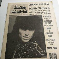 Revistas de música - REVISTA ' DISCO EXPRES ' Nº 35 - AGOSTO 1969 //PORTADA ' SOUL / UNDERGROUND ' - 124291703