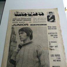 Revistas de música: REVISTA ' DISCO EXPRES ' Nº 39 - SEPTIEMBRE 1969 //PORTADA ' JUNIOR Y ELVIS PRESLEY '. Lote 124292251