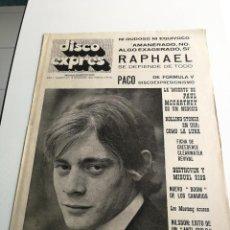 Revistas de música - REVISTA ' DISCO EXPRES ' Nº 47 - NOVIEMBRE 1969 //PORTADA ' PACO DE FORMULA V ' - 124293055