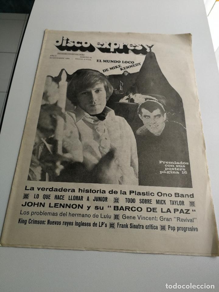 REVISTA ' DISCO EXPRES ' Nº 49 - NOVIEMBRE 1969 //PORTADA ' EL MUNDO LOCO DE MIKE KENNEDY ' (Música - Revistas, Manuales y Cursos)