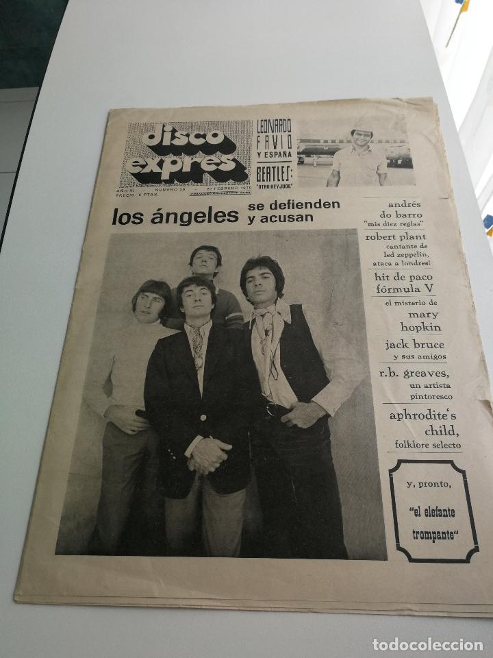 REVISTA ' DISCO EXPRES ' Nº 59 - FEBRERO 1970 //PORTADA ' LOS ANGELES ' (Música - Revistas, Manuales y Cursos)