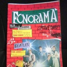 Revistas de música: BEATLES FONORAMA REVISTA MUSICAL ORIGINAL EPOCA PORTADA AÑOS 60 ESPAÑA GRUPOS CONJUNTOS YE YE ROCK. Lote 124405511