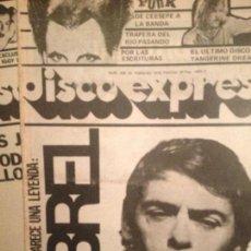Revistas de música: DISCO EXPRES 466 (24-2-78): ESPECIAL PUNK CEESEPE, BANDA TRAPERA DEL RIO,RAMONCIN,LEÑO,ASFALTO,BREL. Lote 124507439