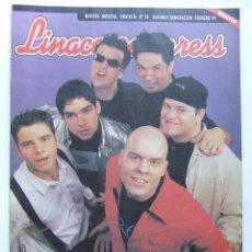 Revistas de música: LINACERO 18 EL POLACO HEROES DEL SILENCIO METALLICA JAVIER ALVAREZ DIRE STRAITS MAURICIO AZNAR . Lote 124513683