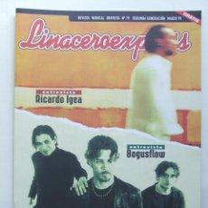Revistas de música: LINACERO EXPRESS 19 BOGUSFLOW HEROES DEL SILENCIO EL CHAVAL DE LA PECA MARILYN MANSON LOQUILLO. Lote 124513819
