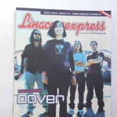 Revistas de música: LINACERO EXPRESS 24 DOVER MOLOTOV ALMAGATO CHEMICAL BROTHERS LOS PLANETAS VIOLADORES DEL VERSO. Lote 124514399