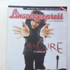Revistas de música: LINACERO EXPRESS 29 THE CURE AMARAL HEROES DEL SILENCIO OASIS AC-DC DIO ANA TORROJA MECANO SANTANA. Lote 124514863