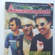 Revistas de música: LINACERO EXPRESS 32 LOS ESPECIALISTAS AMARAL HEROES DEL SILENCIO LOQUILLO PEARL JAM . Lote 124515203