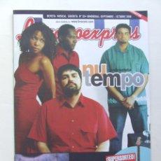 Revistas de música: LINACERO EXPRESS 33 NU TEMPO ESTOPA ALMAGATO MAURICIO AZNAR HEROES DEL SILENCIO LOS PLANETAS AMARAL . Lote 124515311