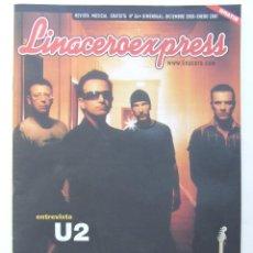 Revistas de música: LINACERO 34 U2 MAURICIO AZNAR HEROES DEL SILENCIO MARILYN MANSON SANTANA LENNY KRAVITZ MEGADETH . Lote 124515403