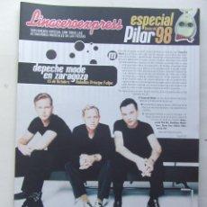 Revistas de música: LINACERO EXPRESS ESPECIAL FIESTAS PILAR 1998 DEPECHE MODE LOQUILLO CALAMARO JULIETA VENEGAS AMARAL . Lote 124515543